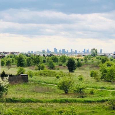 widok z piętra panorama Warszawy